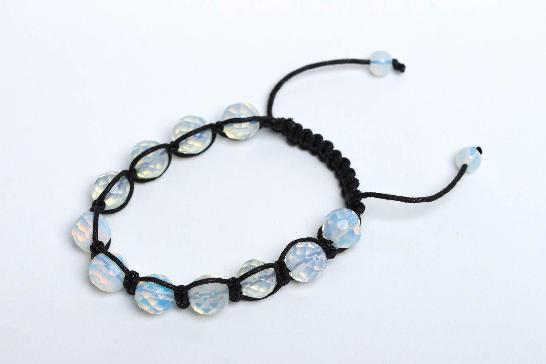 Handmade bracelet beaded bracelet gemstone jewelry designer accessories photo 2