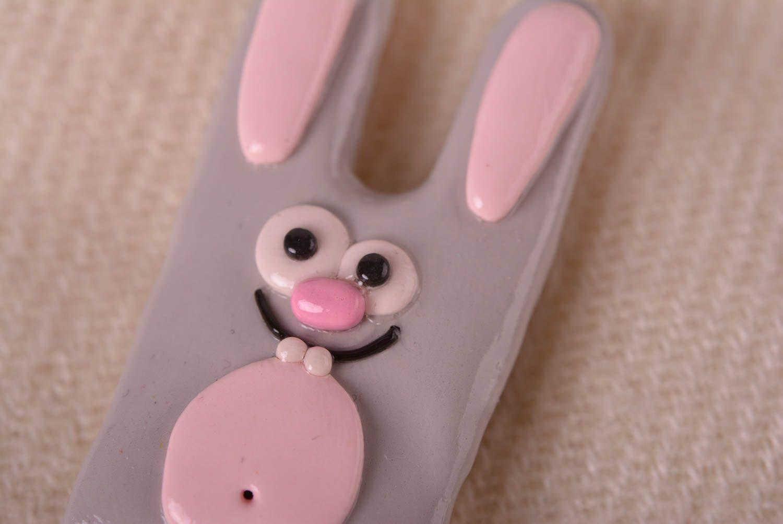 badges Handmade lovely brooch unusual beautiful jewelry stylish bunny accessory - MADEheart.com