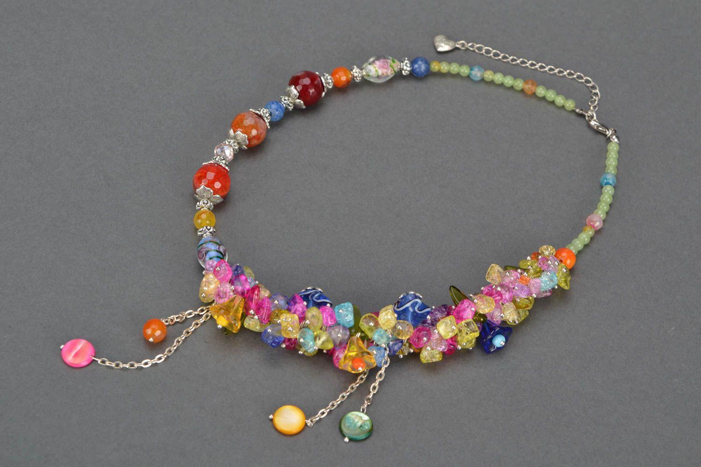 Bright homemade necklace photo 3
