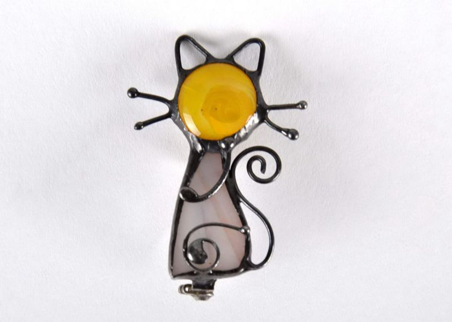 Stained glass brooch photo 1
