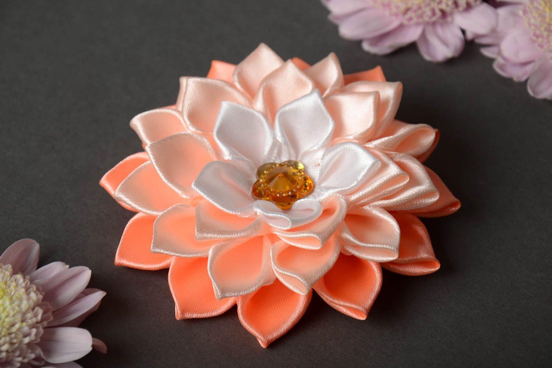 Атласные цветы канзаши своими руками мастер класс 946