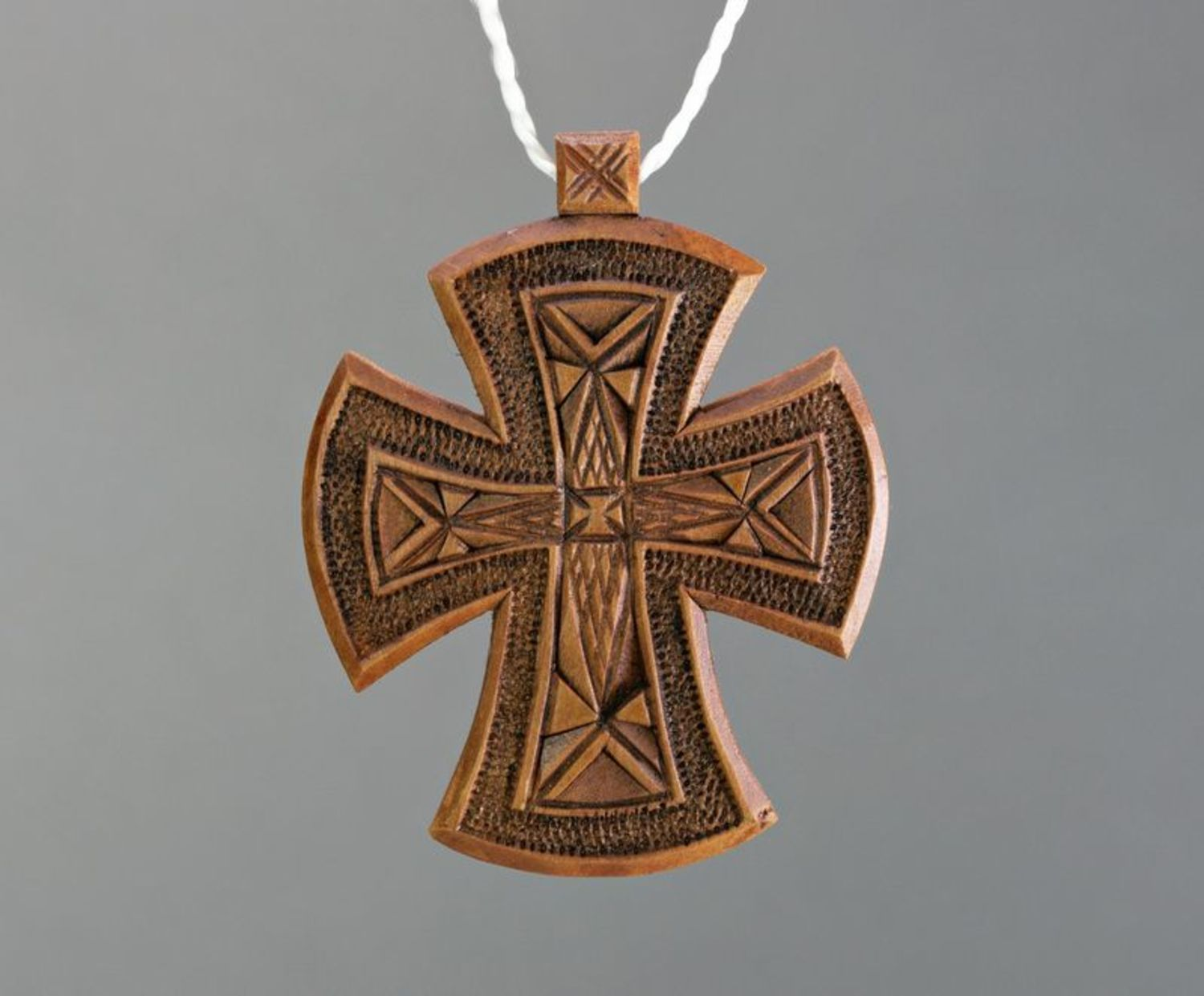 Wooden pectoral cross photo 2