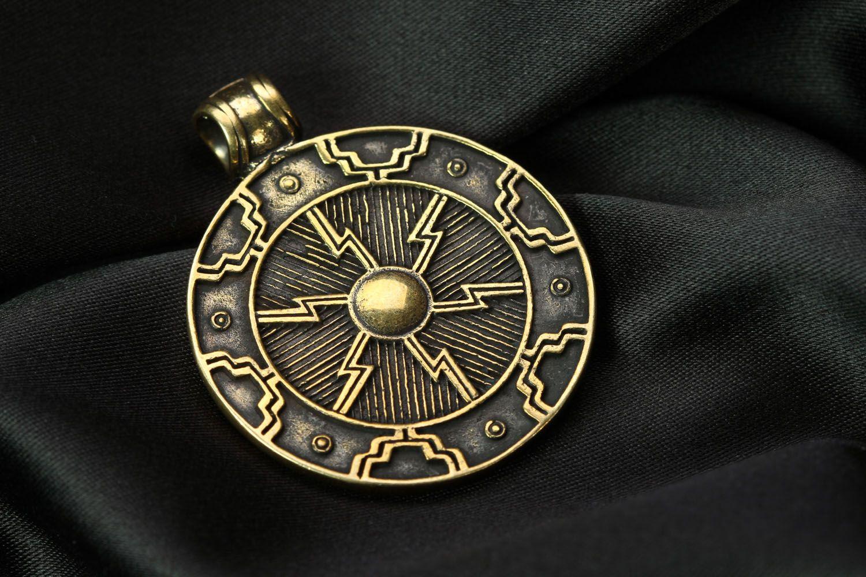 Bronze pendant Two-sided Solar photo 3