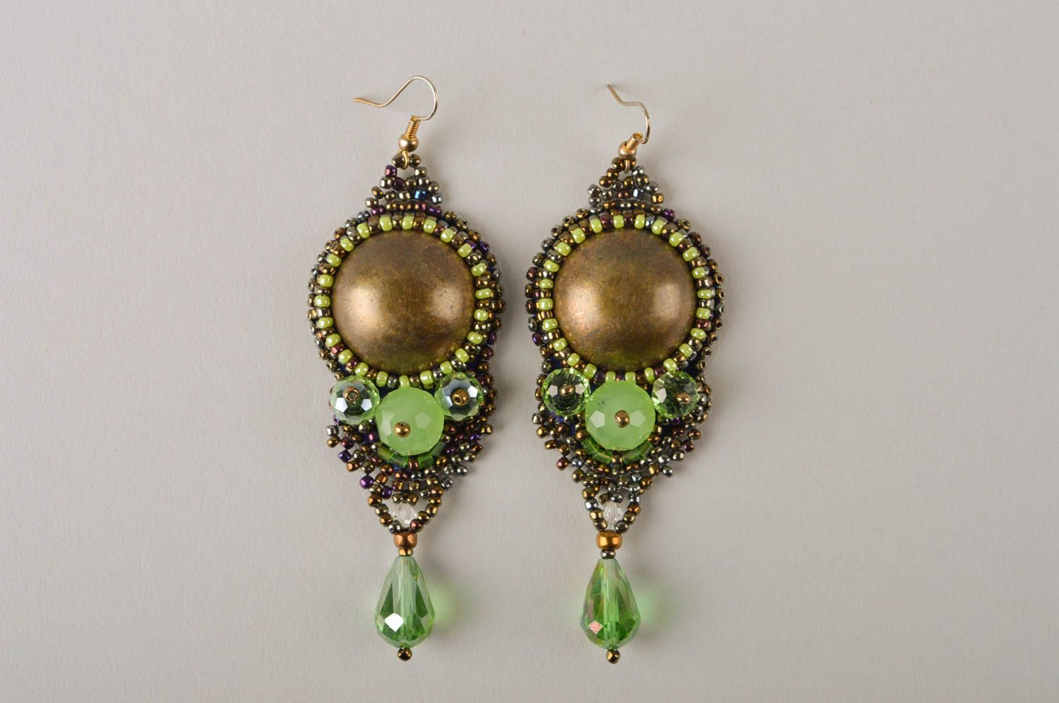 Unusual handmade beaded earrings costume jewelry designs fashion trends photo 2