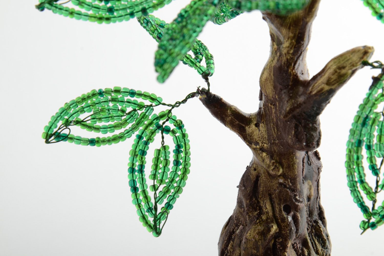 Homemade desktop statuette beaded tree topiary photo 4