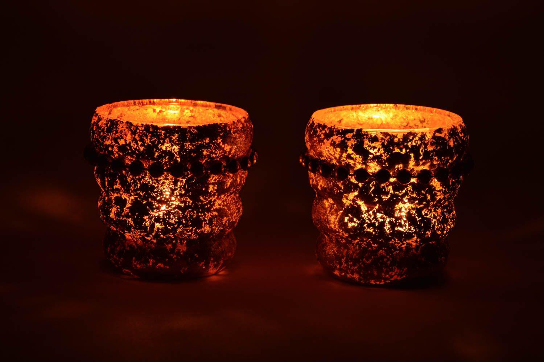 MADEHEART > Einzigartige Glas Kerzenhalter Set für Haus Dekor 2 ...