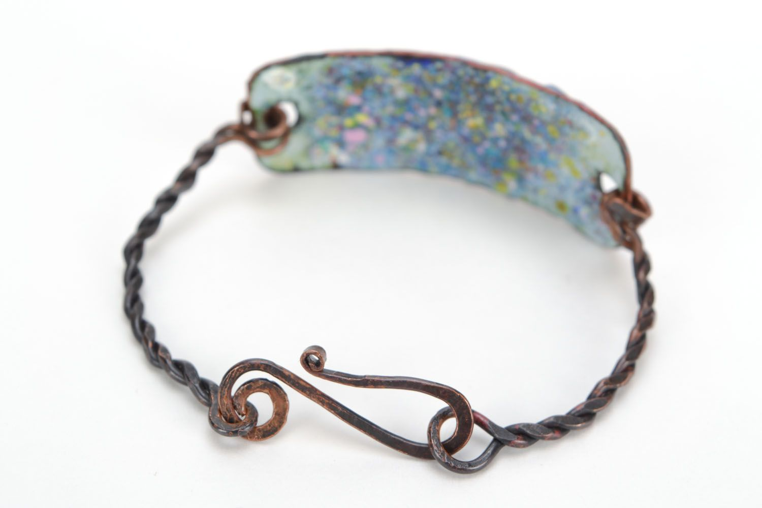 Homemade copper bracelet The Winged Horse Pegasus photo 4