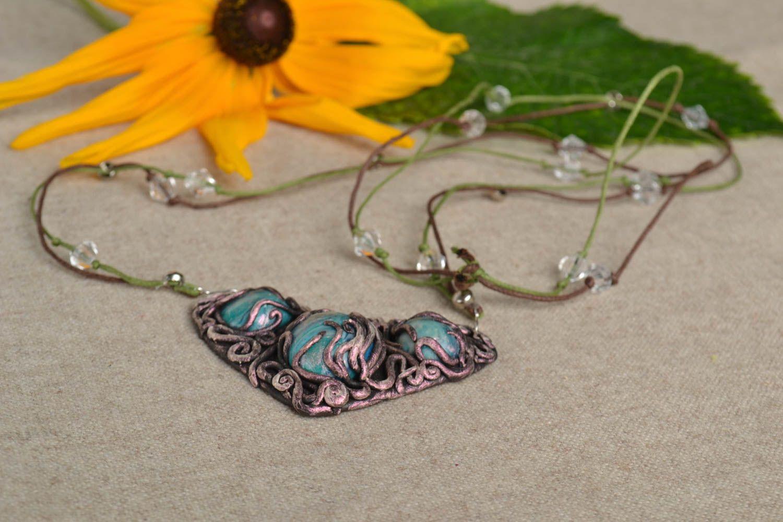 Handgemachte Collier Halskette Schmuck aus polymer clay  Schmuck für Frauen foto 1
