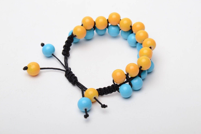 Bracelet woven of glass beads photo 1