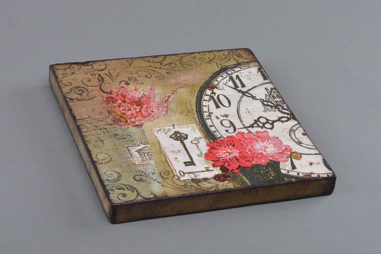 MADEHEART > Cuadro de madera cuadrado artesanal en técnica de ...