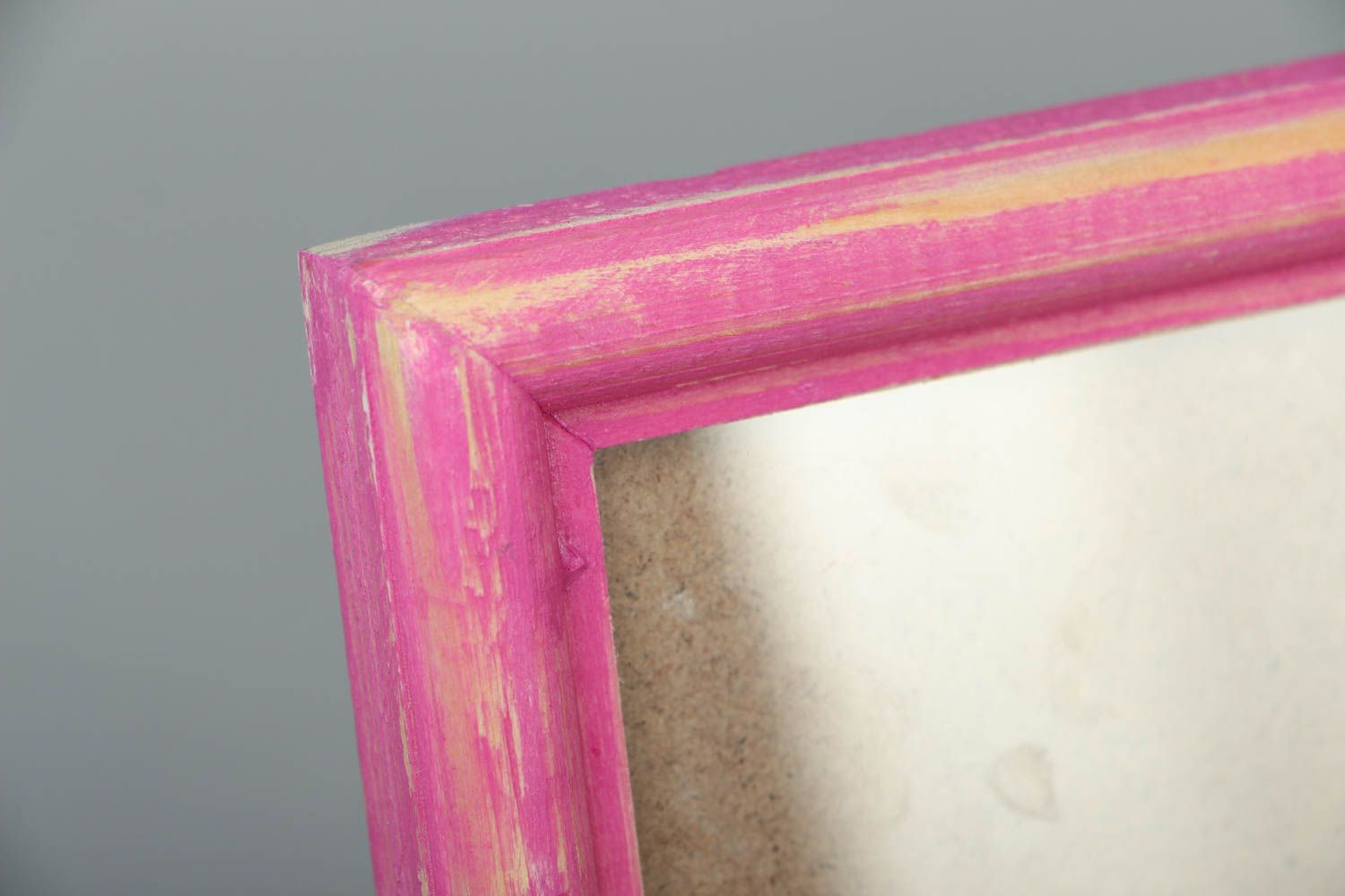 Pink wooden photo frame photo 2