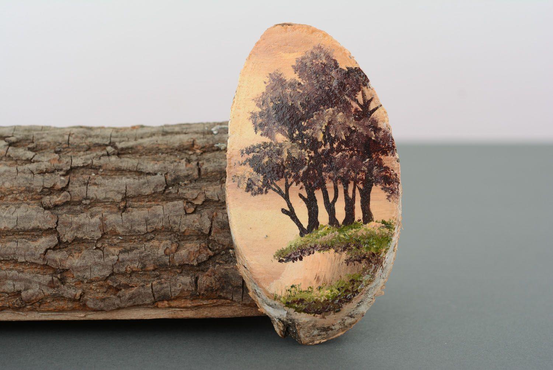 Wooden fridge magnet Cliff photo 1