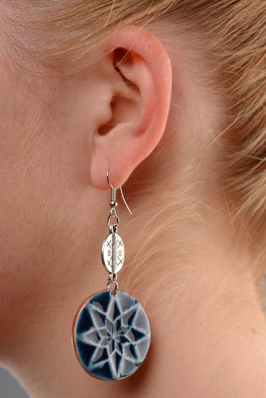 Round amulet earrings Female Alatyr photo 5