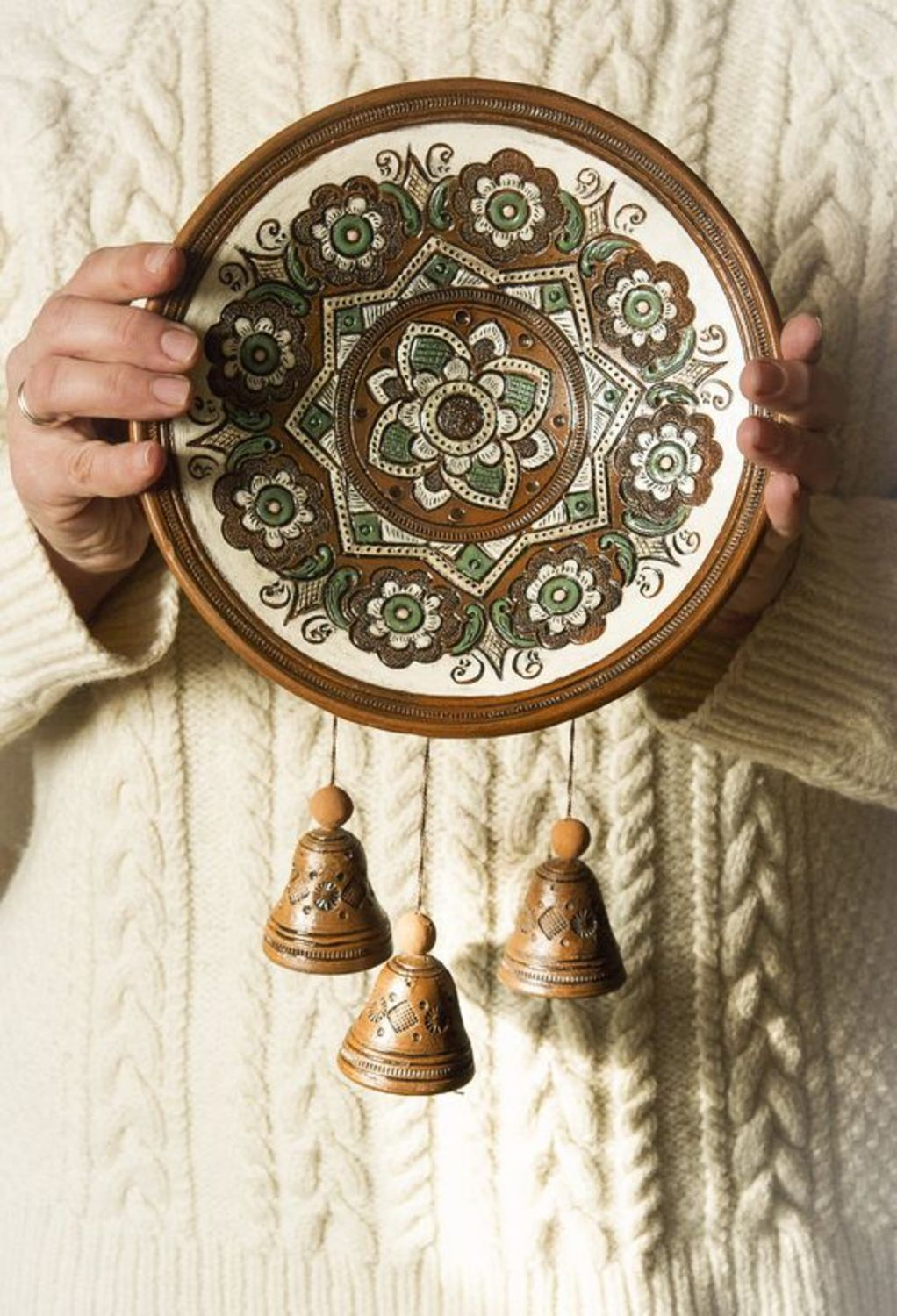 wall decoration Decorative plate with bells - MADEheart.com