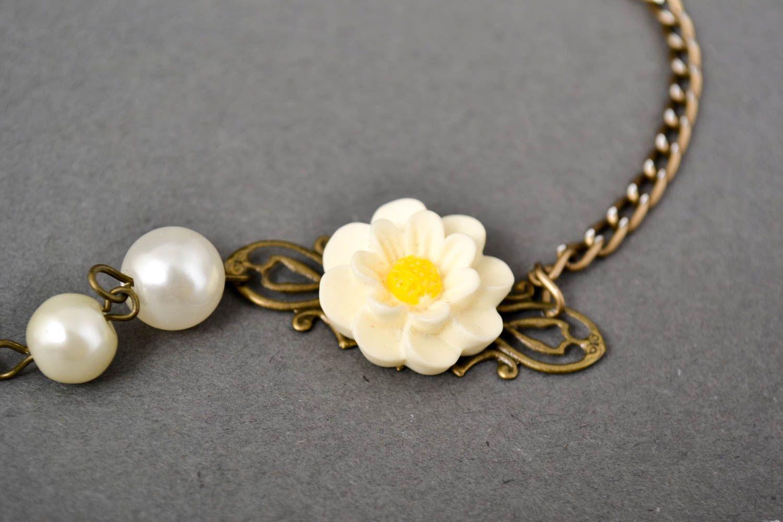 Handmade Polymer Clay Schmuck Armband mit Blumen Frauen Armband zart modisch foto 3