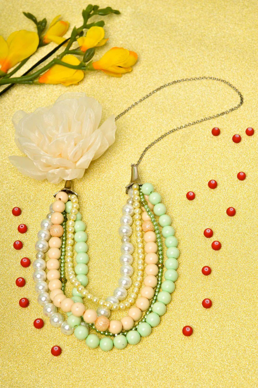 Damen Collier handgefertigt Modeschmuck Halskette Geschenk für Frauen schön foto 1