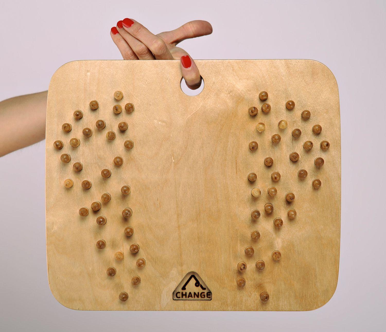 Wooden foot massage tool photo 4