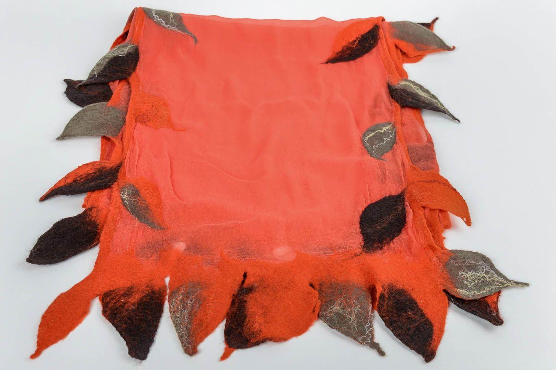 60% barato estilo actualizado sección especial Bufanda de fieltro artesanal original ropa de mujer inusual estilosa bonita