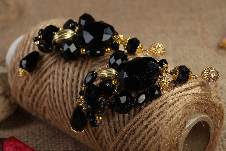 Long crystal earrings photo 3