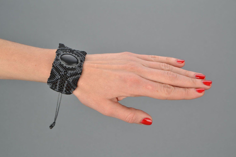 Woven bracelet with shungite photo 2