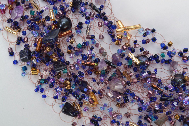 Gemstone beaded necklace photo 3