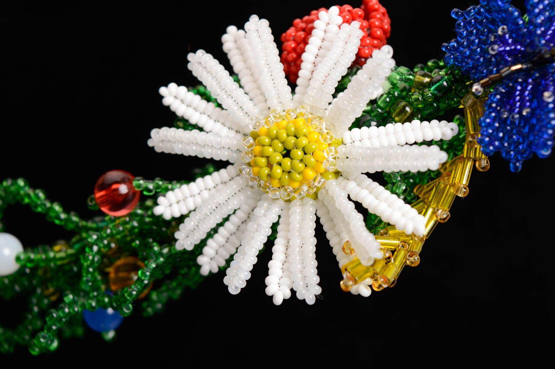 Цветочный браслет из бисера Украиночка фото 3