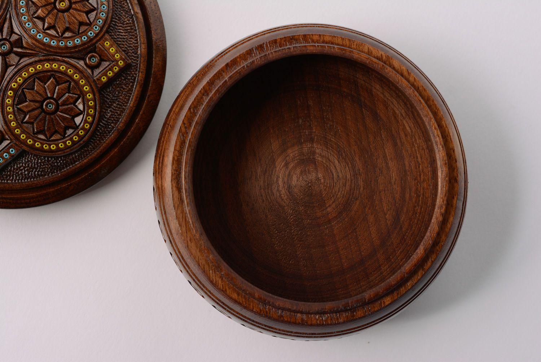Madeheart runde schatulle aus holz mit inkrustation von for Runde ausziehtische aus holz