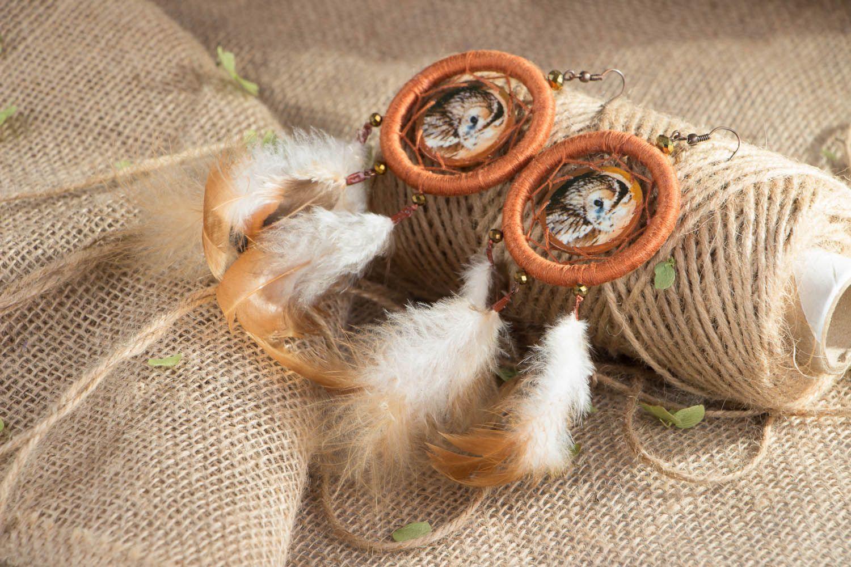 Earrings of unusual shape Dreamcatcher photo 4