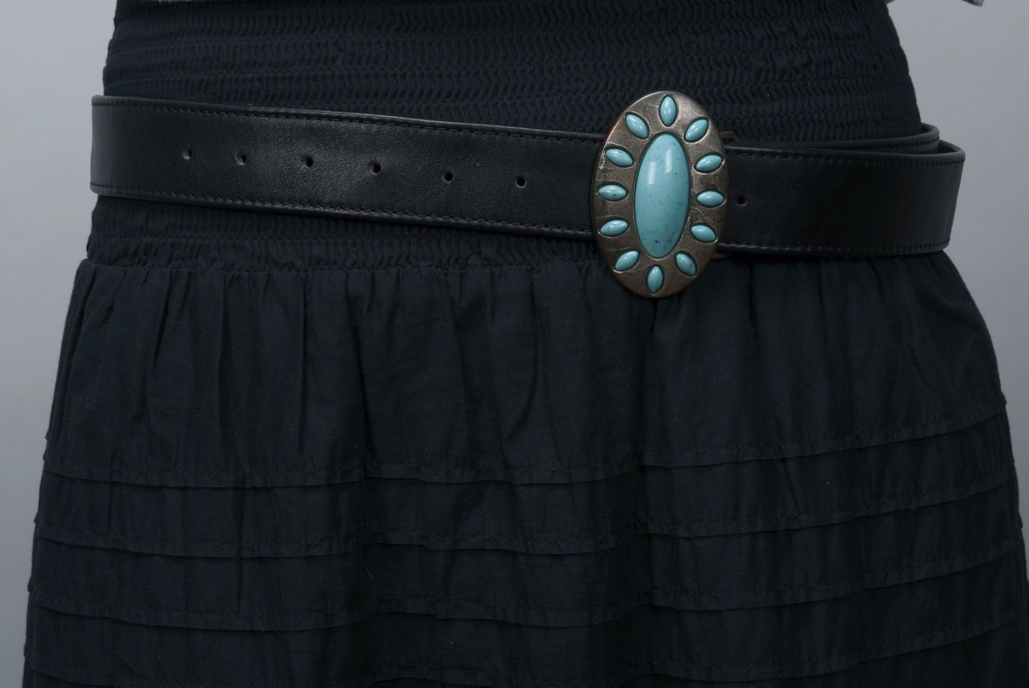 Woman's belt Turquoise photo 6