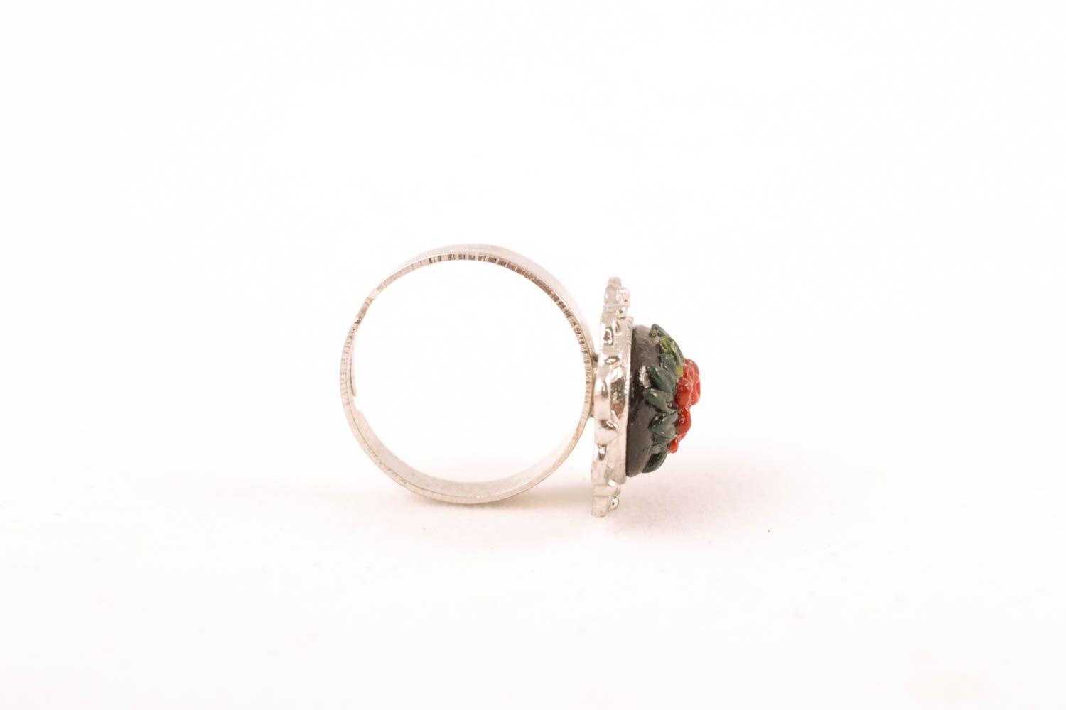 Polymer clay ring with adjustable size photo 3