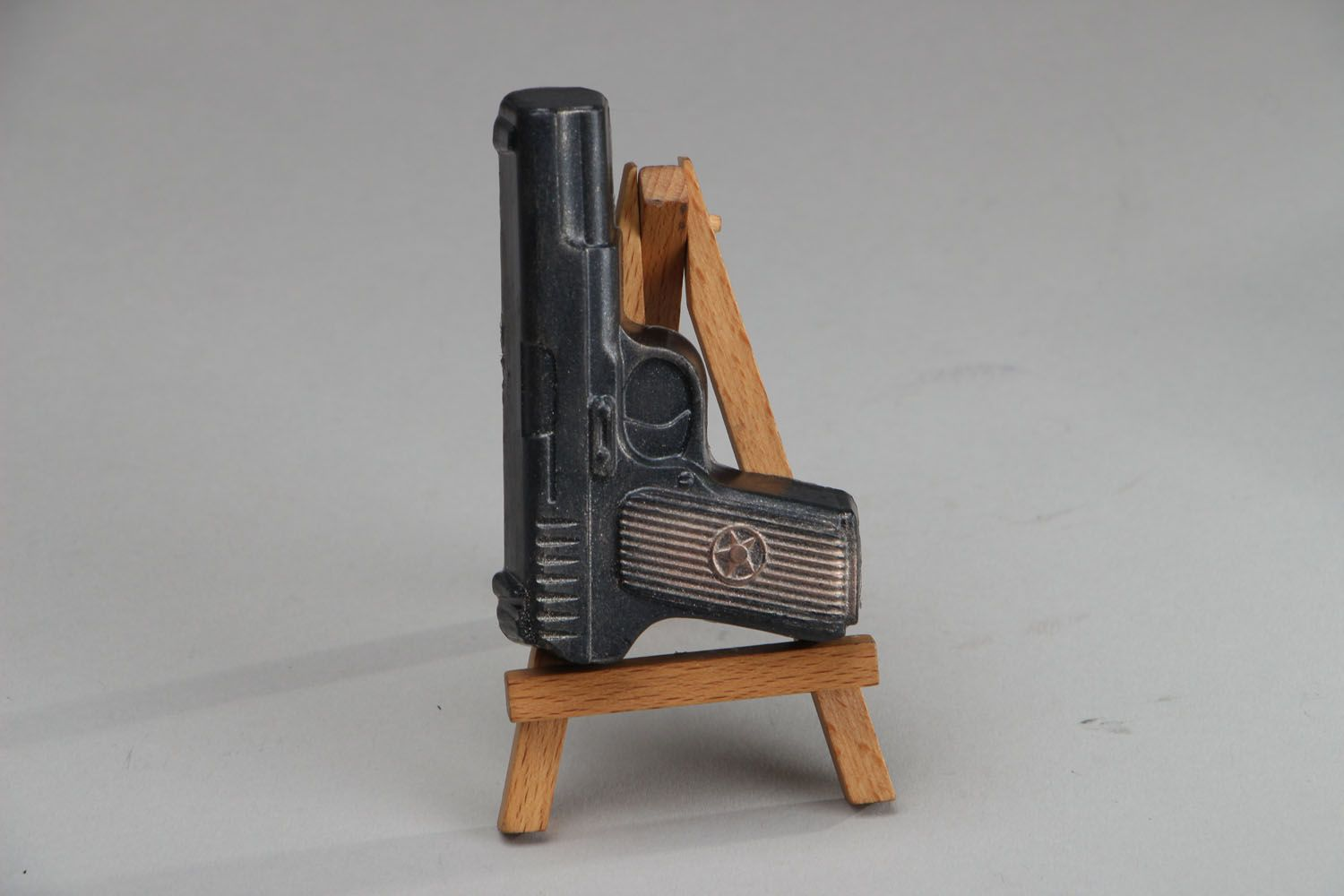 Natural soap in the shape of gun photo 1