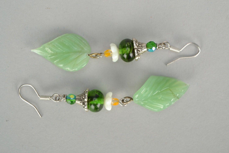 Lampwork glass earrings photo 3