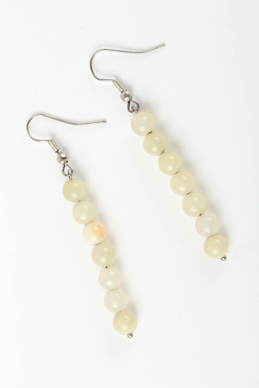 Unusual handmade gemstone earrings long beaded earrings fashion trends photo 2