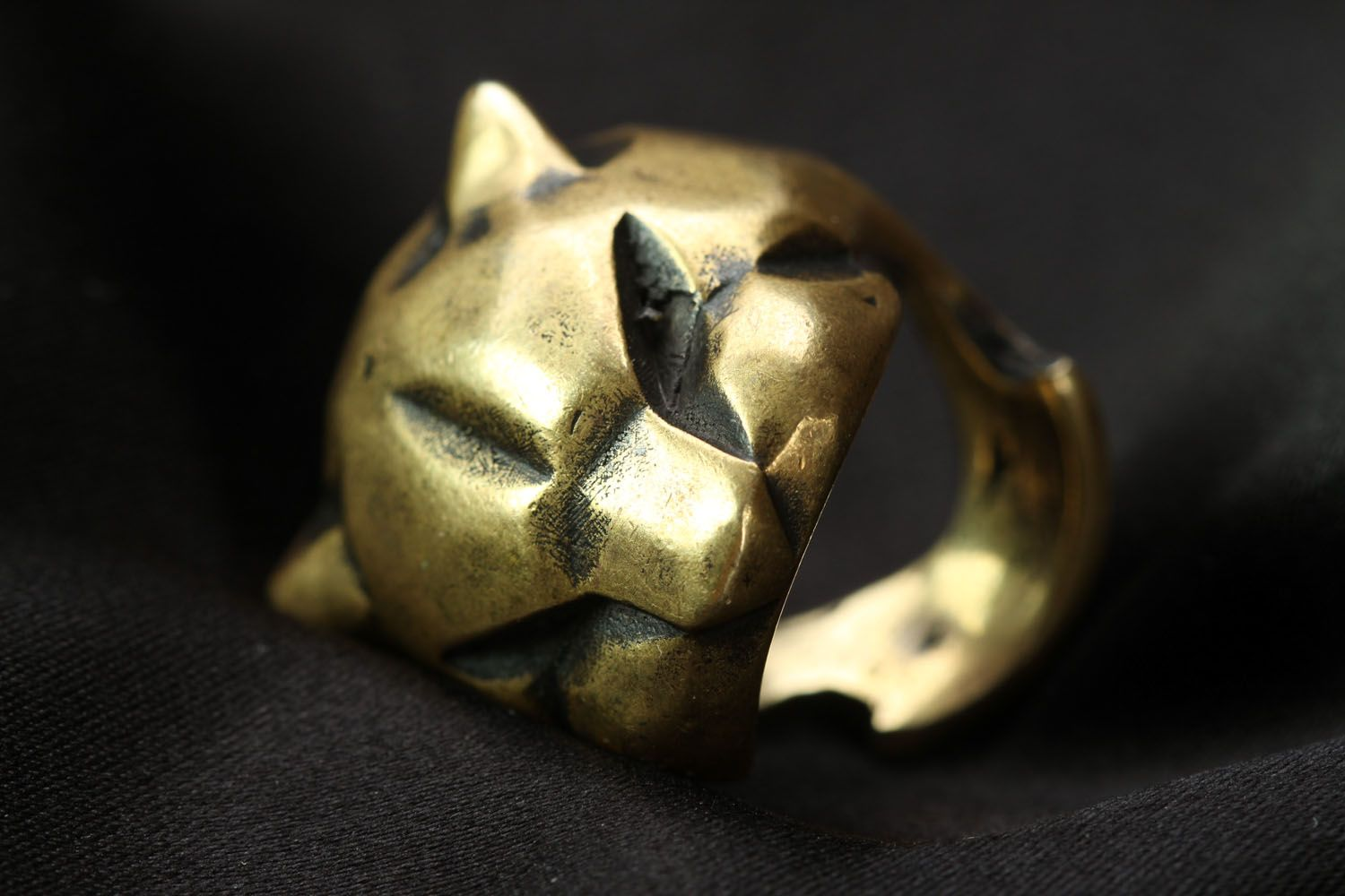 Homemade bronze ring Panther photo 4