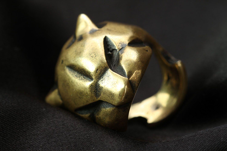 Бронзовое кольцо Пантера фото 4
