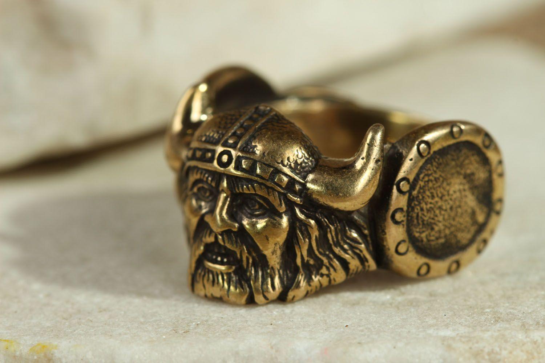 Кольцо из бронзы Викинг  фото 1