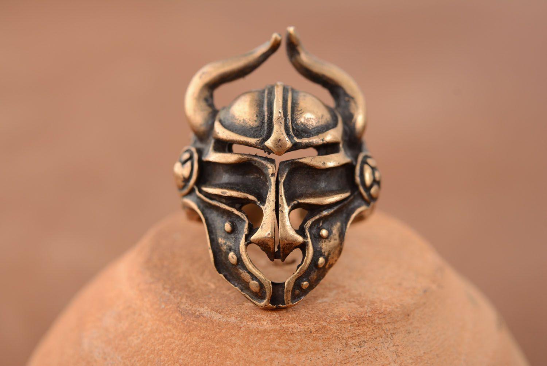 Bronze ring Viking Helmet photo 1
