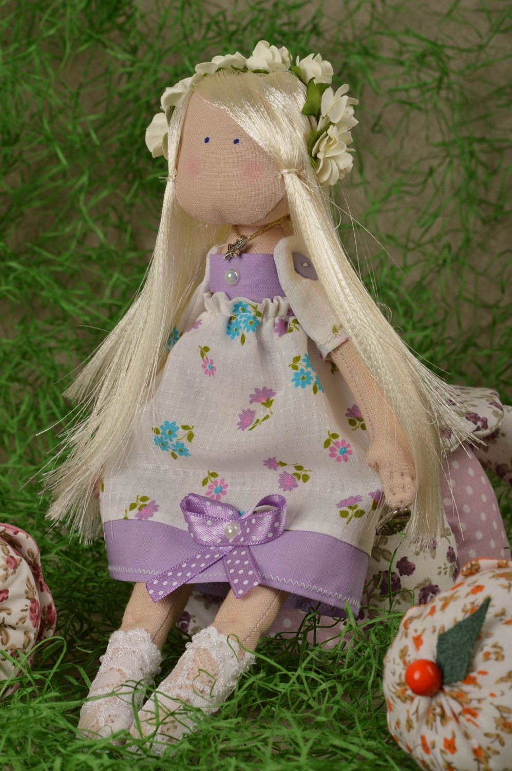 Soft doll handmade girl doll homemade decorations souvenir ideas gifts for her photo 1