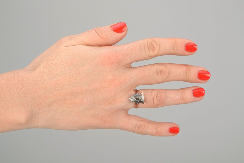 Kleiner Ring aus Kupfer Tannenbaum foto 2