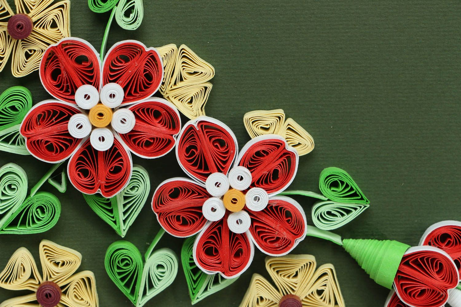 Quilling greeting card photo 2