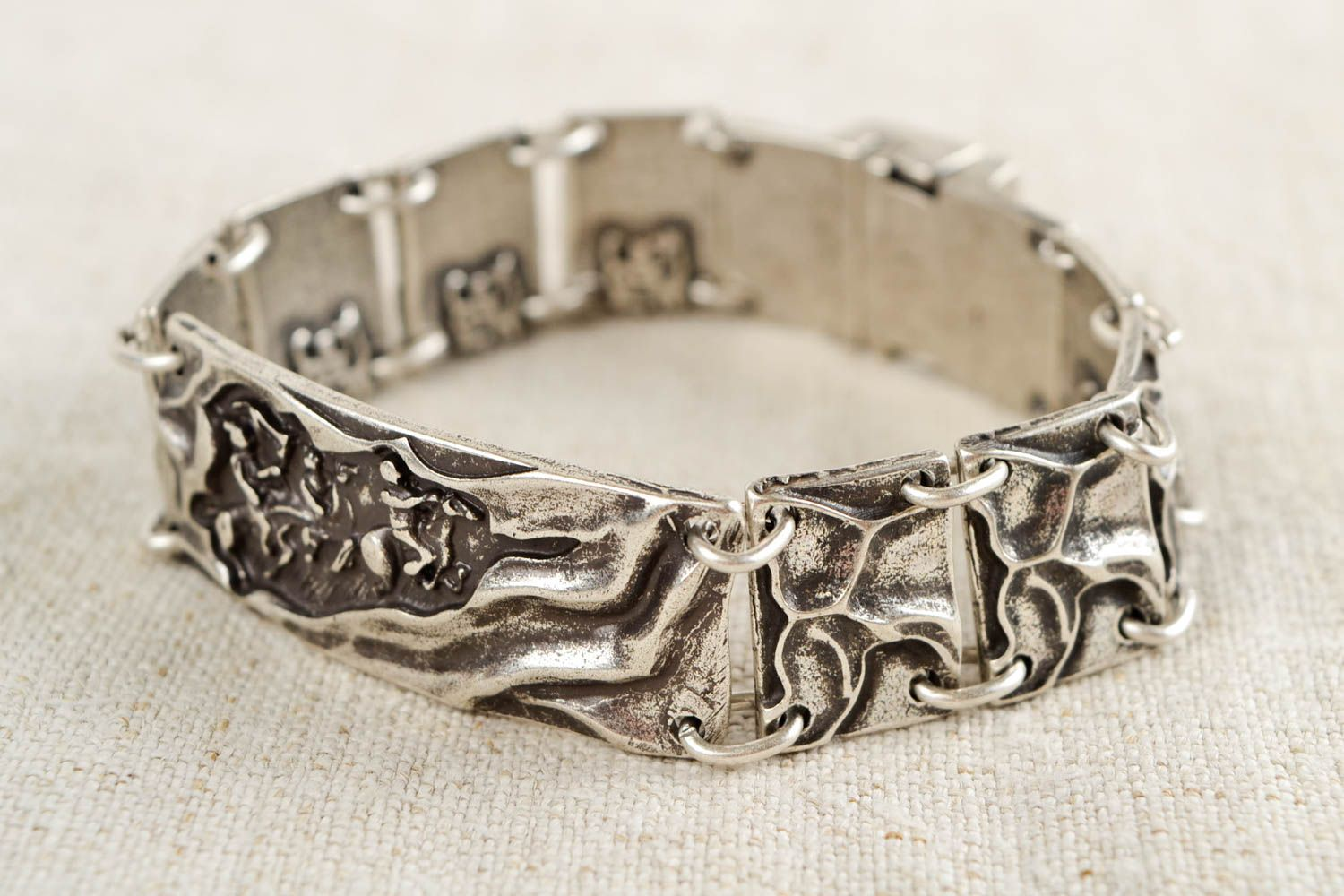 Unusual handmade metal bracelet fashion accessories for girls small gifts photo 1