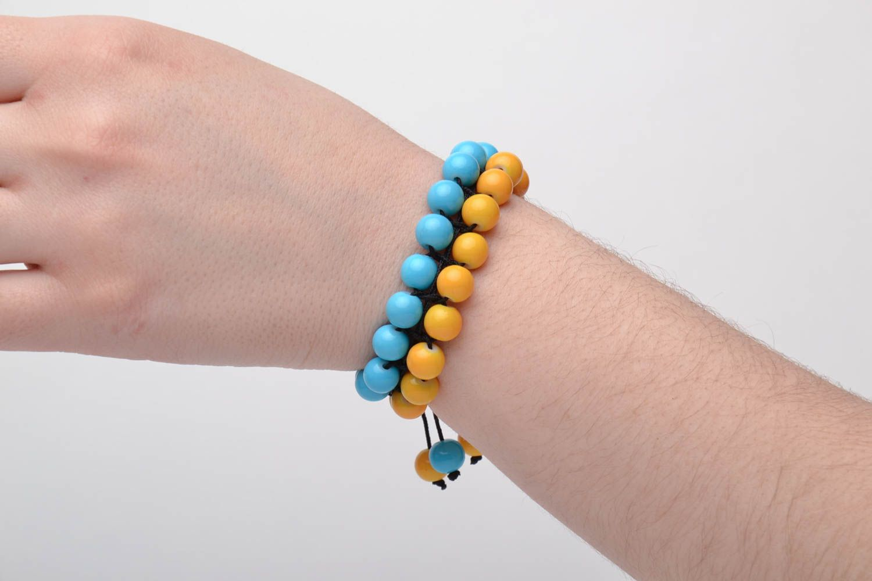 Bracelet woven of glass beads photo 7