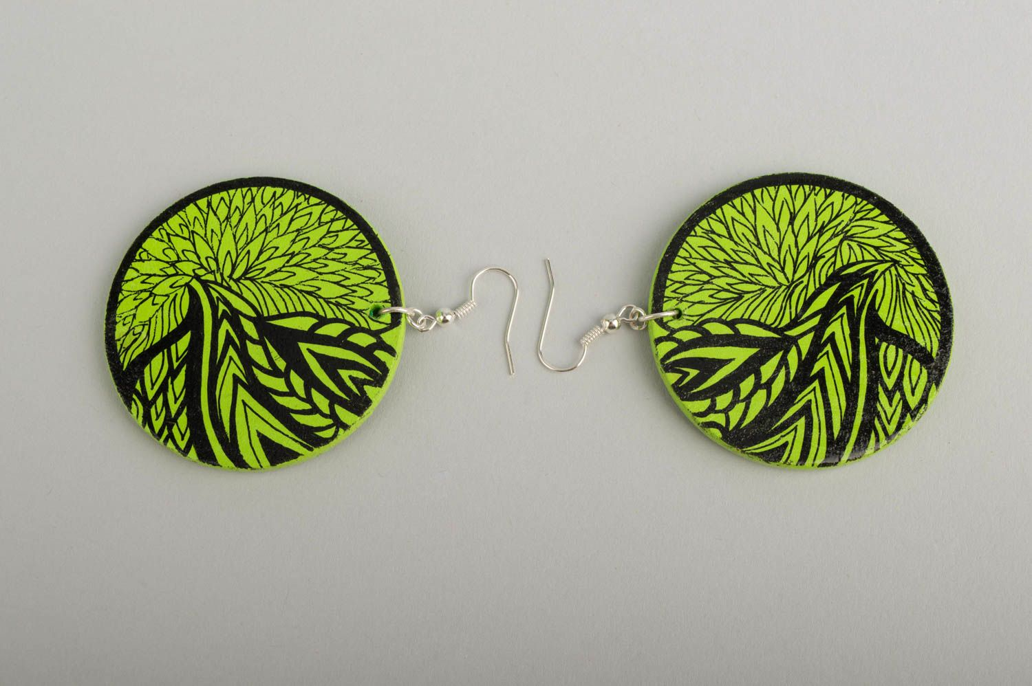 Fashion jewelry handmade earrings wooden jewelry designer accessories gift ideas photo 3