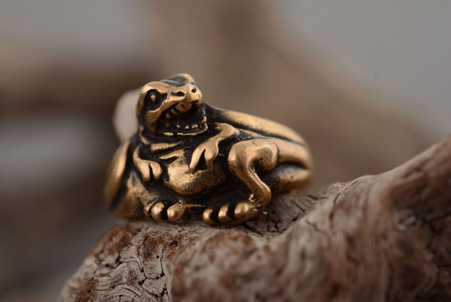 Bronze seal ring Dragon photo 1