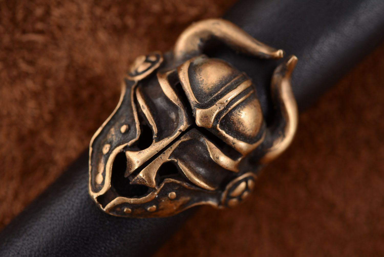 Bronze ring Viking Helmet photo 3