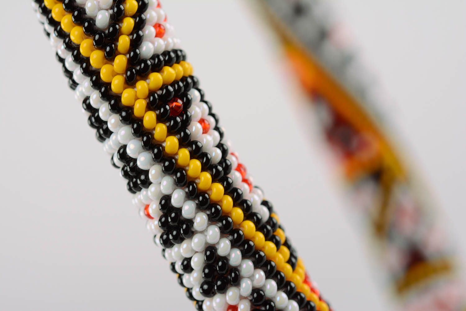Homemade beaded cord necklace photo 2