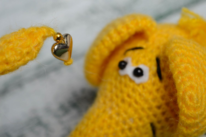 Soft crochet toy Yellow Elephant photo 3