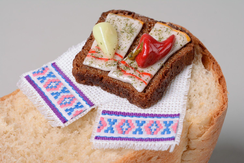 madeheart aimant pour frigo en p te polym re original fait main sandwich au lard. Black Bedroom Furniture Sets. Home Design Ideas
