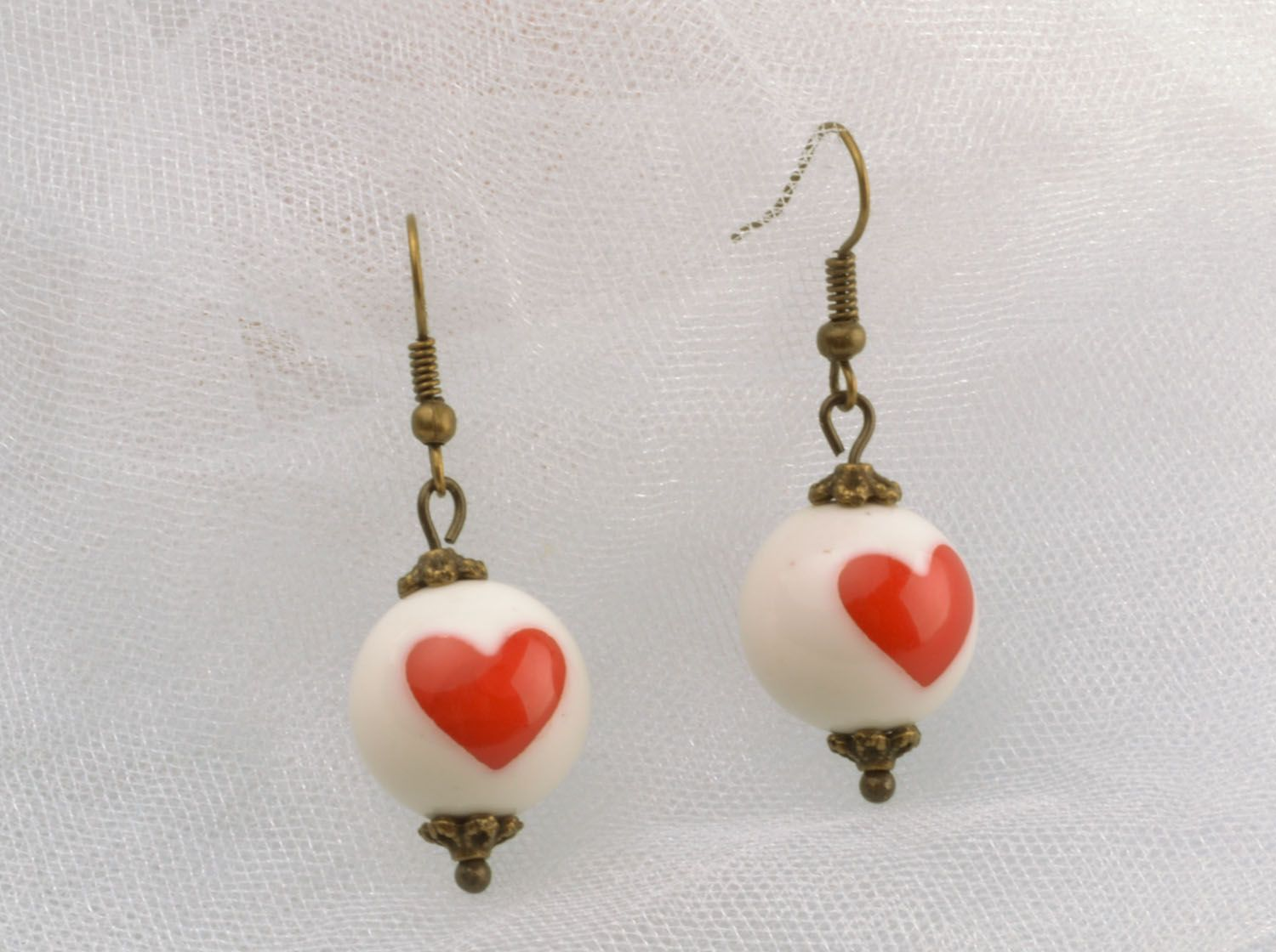 Dangle earrings made of polymer clay photo 1