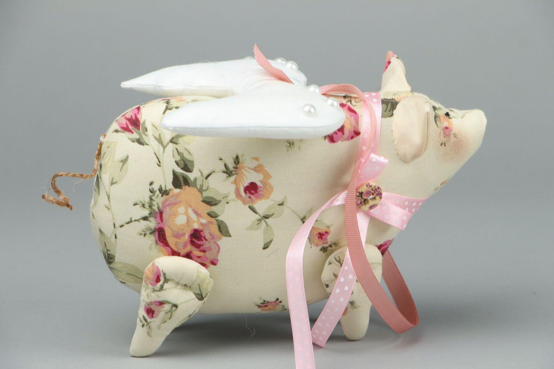 Soft toy Piggy-Angel photo 2
